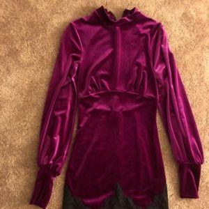 Crushed Velvet/Lace Dress